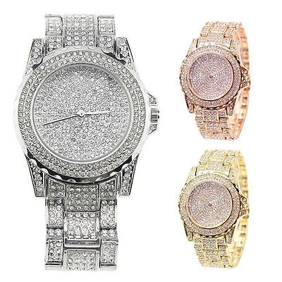 Fashion Diamond Women Watch Steel Luxury Ladies Crystal Rhinestone Quartz Watch