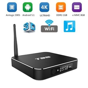 T95 Android 5.1 S905 Smart TV Box 4K player With External WIFI A