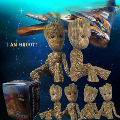 Guardians Of The Galaxy Vol  2 Baby Groot Vinyl Qute Figure Figurine Toy Doll