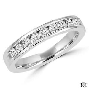 14K GOLD ETERNITY BAND WITH 1.75 CTW DIAMONDS / JONC ÉTERNITÉ EN OR 14K À DIAMANTS 1.75 CT TOTAL /