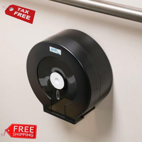 """Jumbo Toilet Single Tissue Roll Dispenser 9"""" - Black"""
