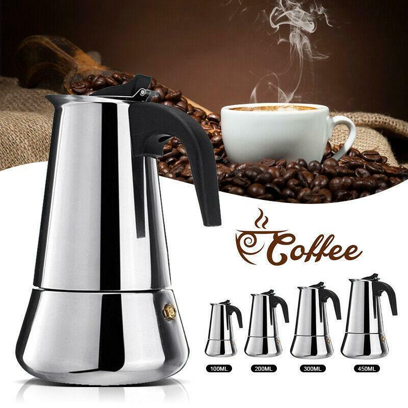 Stainless Steel Espresso Stove Top Coffee Maker Percolator M