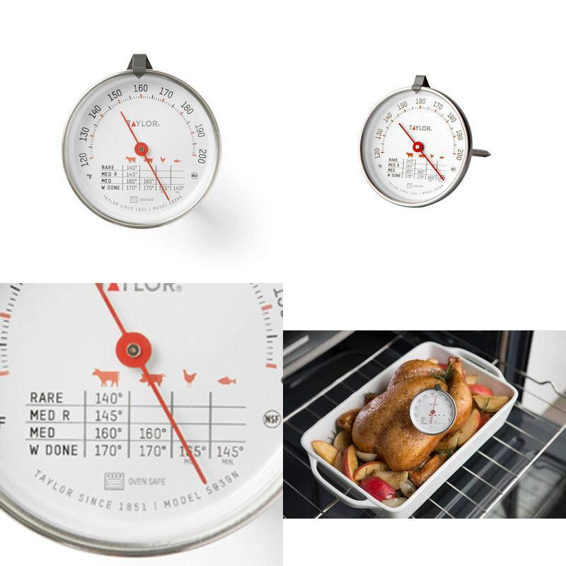 """Classic Style Meat Dial Thermometer Large 3"""" Dial Oven and G"""
