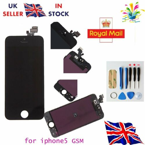 LCD Touch Screen Display Digitizer Assembly Replacement for iPhone 5 Black -UK