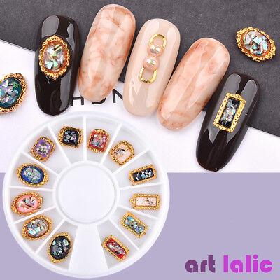 Nail Art Retro 3D Glitter Gem Rhinestones Decorations Metal Foil Flat Back -