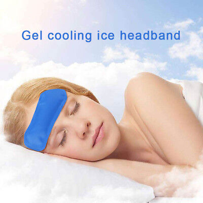 Cooling Forehead Strips Premium Pain Relief Ice Pack Headband Hot Cold Packs](Ice Pack Headband)
