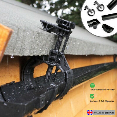 6ft Rainwater Saver Collector Garden Shed Roof Gutter System No Drill Downpipe