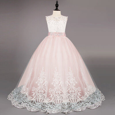 Princess Communion Dresses (Flower Girl Communion Party Prom Lace Princess Pageant Bridesmaid Wedding)