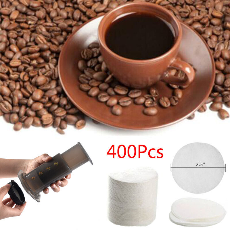 350pcs Round Coffee Filters Paper Coffee Strainers For Aeropress Coffee Maker ZY