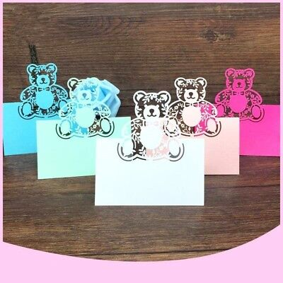 Christening Party Table Name Place Card Laser Cut Baby Shower Birthday 40pcs (Place Card)