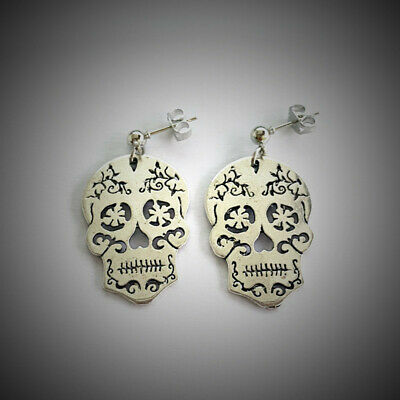 Halloween Sugar Skull Earring , Sugar Skull Charm, Gothic Gift, Halloween Gift