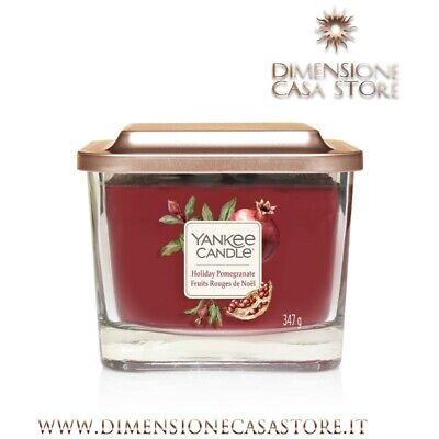 YANKEE CANDLE Candela Profumata Media Linea Elevation Aroma Holiday Pomegranate
