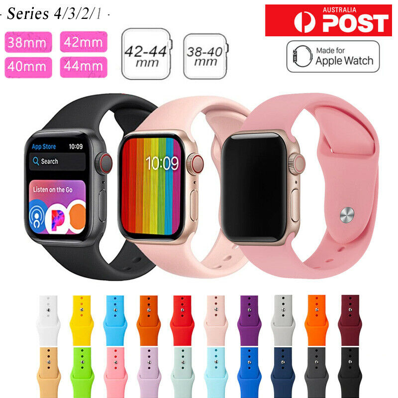 Jewellery - For Apple Watch iWatch Series 65432 Silicone Replacement Strap Band 38 40 42 44m