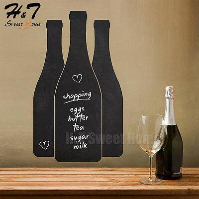 Wine Bottle Glass Kitchen Chalkboard Vinyl Wall Decal Sticker Restaurant - Chalkboard Wine Bottles