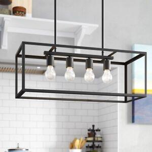 New Rectangular Chandelier Pendant Light Fixture Lighting