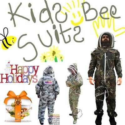 Childrens Beekeeping Beekeeper Bee Suit Animal Handling Pest Control Fence Veil