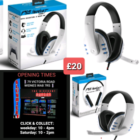 PS5 PLAYSTATION 5 HEADSETS - ONLY £20      •••• ALL NEW AND BOXED
