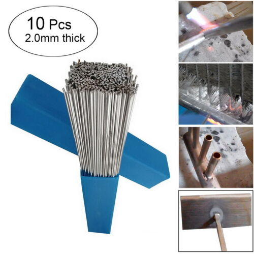 Silver Aluminum Alloy Welding Rods Wire Brazing Low Temperate – 10 20 30 50PCS
