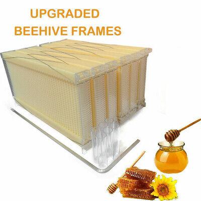 Plastic Bee Hive Auto Harvest Honey Tool Bee Auto Honey Harvesting Frames 6pcs