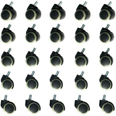 25 Pcs Universal Fit Replacement 2 Swivel Office Chair Wheels Casters Ca Fast
