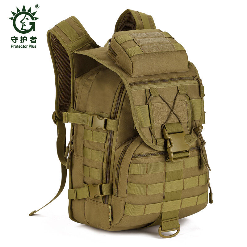 ba427147c9f 40L Tactical Daypack MOLLE Assault Backpack Pack Military Gear Rucksack  Large