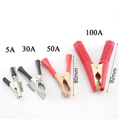 5a30a50a100a Alligator Clips Battery Clamps For Car Test Probe Crocodile Clip