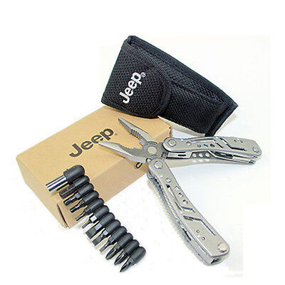 JEEP Outdoor Multi Tools Set Pliers Knife Stainless Steel Camping Screwdriver