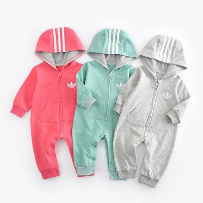 Top Baby Kids Boys Girls Infant Romper Jumpsuit Bodysuit Cotton Outfit Set -