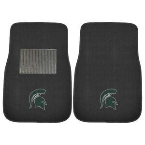NEW - NCAA FANMATS 17603 Michigan State 2-Piece Car Mat
