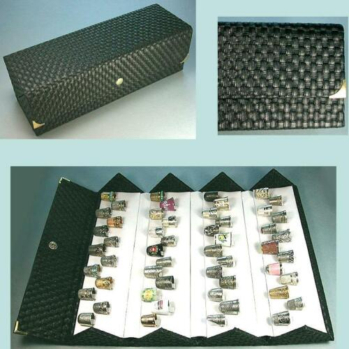 Large Folding Thimble Display Case * Holds 52 Thimbles