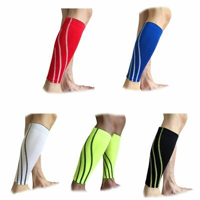US 1PC Calf Leg Running Compression Sleeve Socks Shin Splint Support Wrap Brace  - Leg Wraps