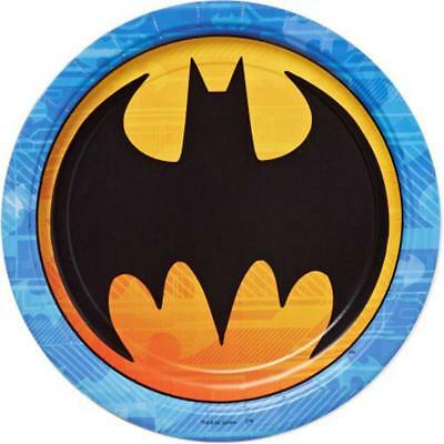 DC Comic Batman Lunch Dinner Plates 8 Per Package Birthday Party Supplies New - Batman Party Plates