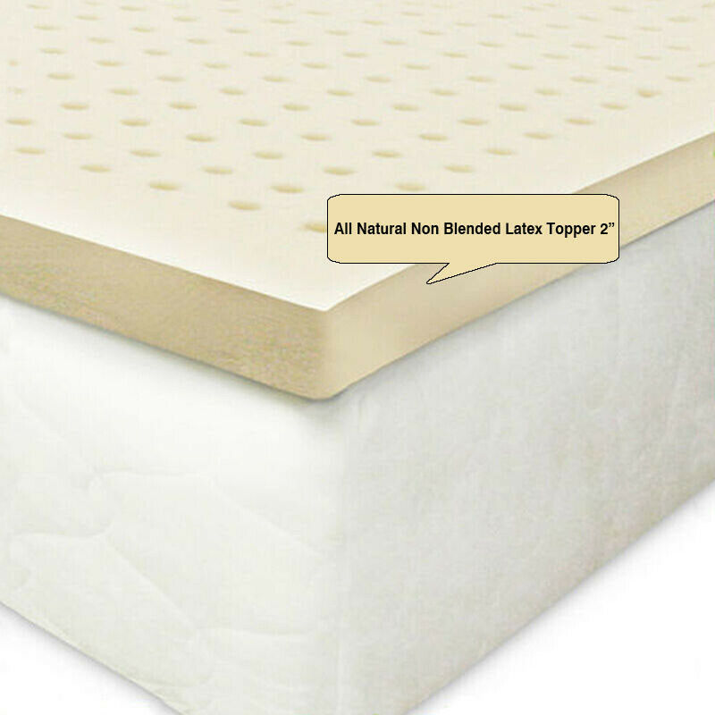 """All Natural Non Blended Latex Topper 2""""