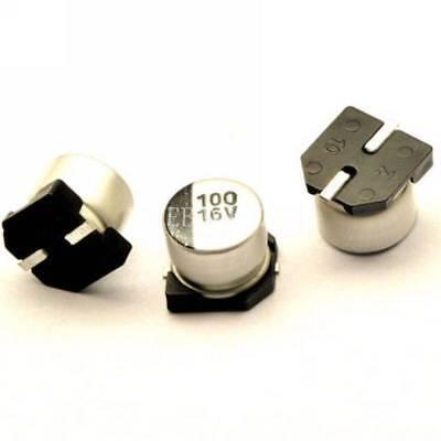 20pcs 100uf 16v 100mfd 16volt Smd Electrolytic Capacitor 6.3mm5.4mm New