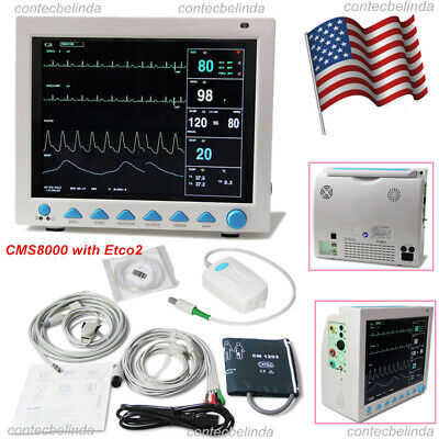 Capnograph Etco2 Multi Parameter Vital Signs Patient Monitor Cms8000 Contec New