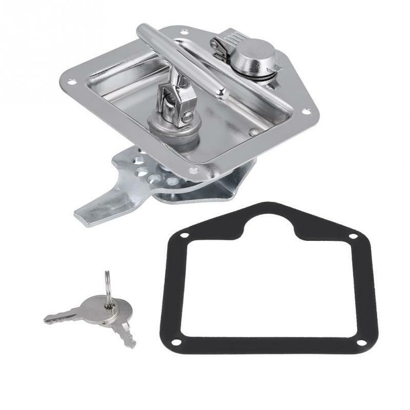 Stainless Steel Folding T-Shape Handle Lock Tool Box Keys Kit For Truck Trai hp