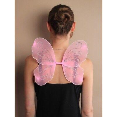 Klein Fee Flügel in Rosa mit Befestigungen für Kinder ()