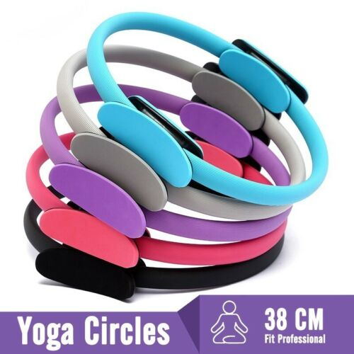Pilates Ring Dual Grip Fitness Weight Exercise Yoga Circle Body Trainer Tools Fitness, Running & Yoga