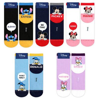 Disney Mickey Friends Character Socks Women Socks Big Kids Cartoon Socks 5 Pairs