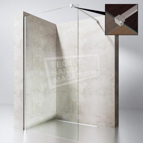 Douchescherm 80 Cm.Supersani Douchewand 80 Cm Glas Met Muurprofiel 10 Mm