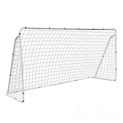 12x6' Steel Soccer Goal W/ Net Youth Size Quick&Easy Setup for Football -