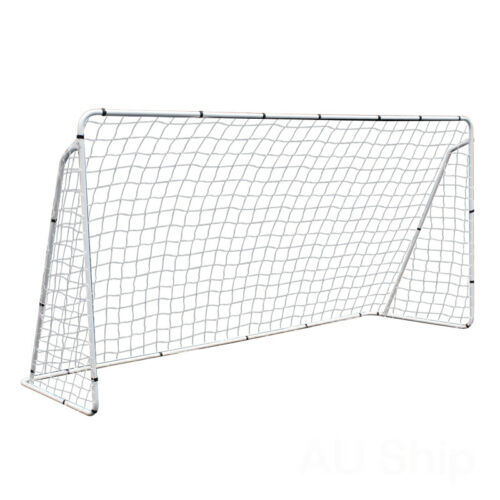 12×6′ Steel Soccer Goal W/ Net Youth Size Quick&Easy Setup for Football Training Goals & Nets