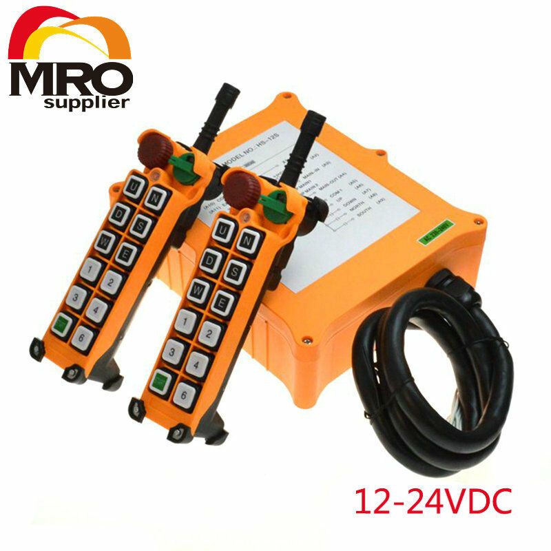 HS-12S 12-24VDC 12 Channels 1 Speed  Hoist Crane Truck Radio Remote Controller