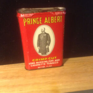 Vintage Prince Albert Crimp Cut Pocket Tobacco Tin