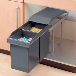 Save $55 Brand New Plastic Sliding Waste Bin System for Kitchen