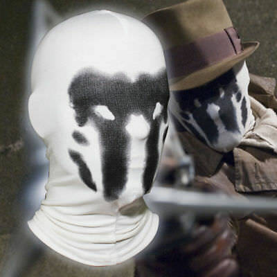 Rorschach Mask Costume Watchmen Halloween Hood Full Overhead Costume Mask](Rorschach Halloween Costume)