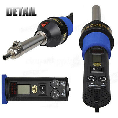 110v 200w Lcd Electronic Heat Gun Hot Air Wind Blower Soldering Station4 Nozzle