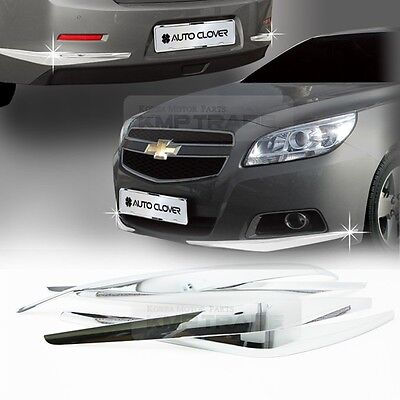 Chrome Bumper Guard Protector Garnish Molding for CHEVROLET 2012 - 2016 Malibu