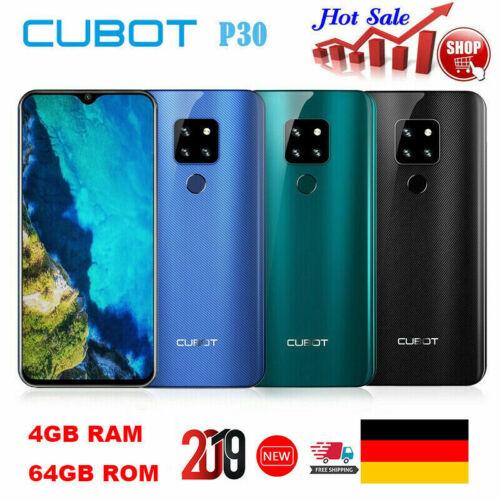 "Cubot P30 6.3"" 4G Handy Android 9.0 Octa Core 4GB+64GB Fingerprint ID Smartphone"