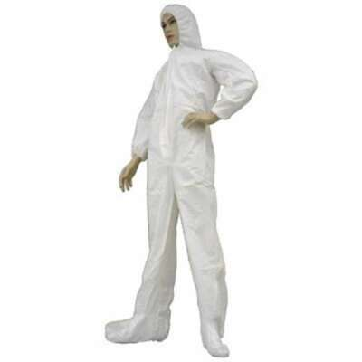 Epic Cleanroom Coverall Suit Disposable With Hoodie Boots Size Large White New